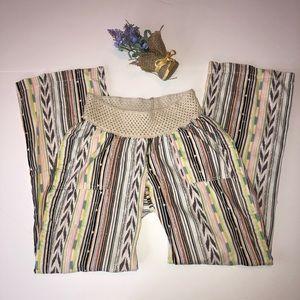 Angel Kiss Maternity linen blend pants size small